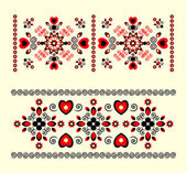 Horizontal ornament with heart — Stock Vector