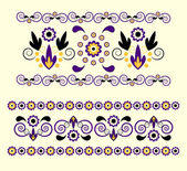 Horizontal ornament with flower — Stockvektor