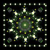 Pattern with lily — Stockvektor
