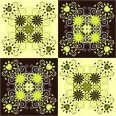 Decorative square background — Stock Vector