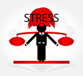 Man in stress — Stock Vector