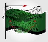 Zakelijke grafiek met vlag — Stockvector
