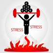 Stock Vector: Min stress