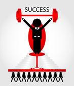 Başarı man sandalyede — Stok Vektör