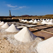 Salt piles on a saline exploration — Stock Photo