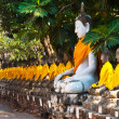 Buddhstatues at temple of Wat Yai Chai Mongkol in Ayutthay — Stock Photo #5519757