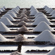 Salt piles in the salines from Janubio, an old historic salt production in — Stock Photo #5519950