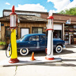 Stock Photo: Historic patrol station at Route 66