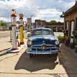 Historic patrol station at Route 66 - Stock Photo