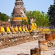 Stock Photo: Buddhstatues at temple of Wat Yai Chai Mongkol