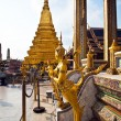 A kinaree, a mythology figure, in the Grand Palace in Bangkok — Foto Stock