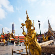 A kinaree, a mythology figure, in the Grand Palace in Bangkok — Stock Photo #5520741