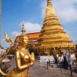 A kinaree, a mythology figure, in the Grand Palace in Bangkok - Stock fotografie