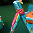 Colorfol Fisherboats in a small village in Koh Chang, Thailand — Stock Photo