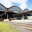 Classicistic iron train station - Foto Stock