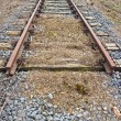 Ending rusty rails — Stock Photo