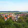 "View to romantic village of Shillingsfuerst on ""romantic street"" - Stock Photo"