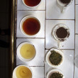 Different tea breeds for tasting — Stock Photo