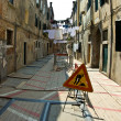 Stock Photo: Construction site in the small historic streets of venice