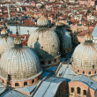 Overlooking the marcus church and the city of venice — Stock Photo