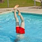 Child has fun in the pool — Stock Photo #5527429