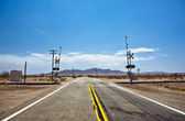 Railway crossing on Route 95 — Stock Photo