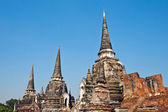 Famous temple area Wat Phra Si Sanphet — Stock Photo