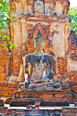 Buddha statue in beautiful light in Mahathat temple — Stock Photo