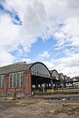 Classicistic iron train station — Stock Photo