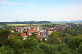 """View to romantic village of Shillingsfuerst on """"romantic street"""" — Stock Photo"""