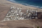 Aerial of village of Famara — Stock Photo