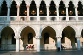 "Facade of the doge palace, the ""Palazzo Ducale"" — Stok fotoğraf"