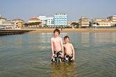 Bratři v moři — Stock fotografie