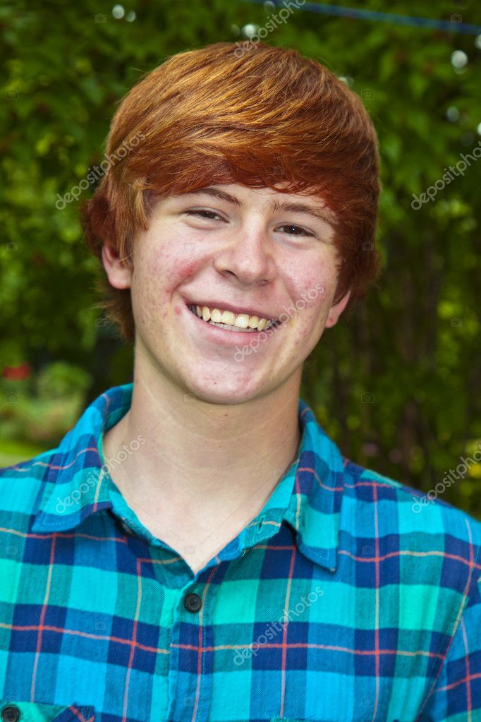 Young man portrait in the garden  Stock Photo #5528718