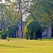 Royalty-Free Stock Photo: Bushes cut to animal figures in the park of Bang Pa-In Palace