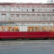 Vintage tram in Vienna in motion - Photo
