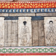Paintings in temple Wat Pho teach Acupuncture and fareast medicine — Foto Stock
