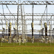 Stock Photo: Electrical power station with sky