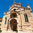The facade of the catholic middle ages romanic cathedral iof San — Stock Photo