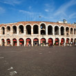 World famous amphi theater ,old roman arena from verona from out — Стоковая фотография