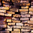 Wall of bricks in temple areWat PhrSi Sanphet, Royal Palace — Stock Photo #5536608