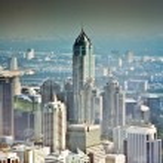 View across Bangkok skyline — Stock Photo