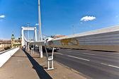 Puente de cuerda en hungría — Foto de Stock