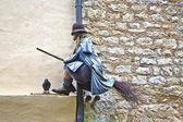 Gamla medeltida häxor och frågor kring vidskepelse — Stockfoto