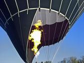 Hot air balloon starting — Stock Photo