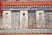 Pinturas en el templo wat pho enseñan medicina acupuntura y lejano oriente — Foto de Stock