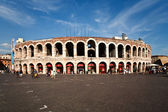 World famous amphi theater ,old roman arena from verona from out — Stock Photo