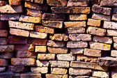Wall of bricks in temple area Wat Phra Si Sanphet, Royal Palace — Stock Photo