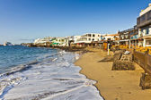 Promenade of scenic Playa Blanca with seaside in the morning — Stock Photo
