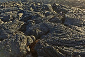 Stones of volcanic flow give a beautiful structure — Stock Photo